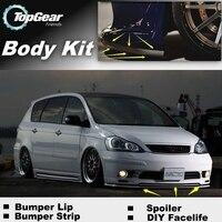 For TOYOTA Ipsum Picnic SportsVan Avensis Verso Front Bumper Lip / Spoiler For TG Car Tuning / TOPGEAR Body Kit / Strip Skirt