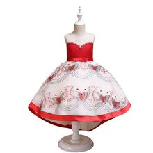 Kids Bridesmaid Lace Girls Dress For Wedding and Party Dresses Evening Christmas Girl Costume Birthday Pageant Dress Vestidos