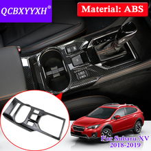 QCBXYYXH Car Styling For Subaru XV Impreza 2018 2019 Interior ABS Gear Box Cup Holder Protection Cover Auto Internal Accessory