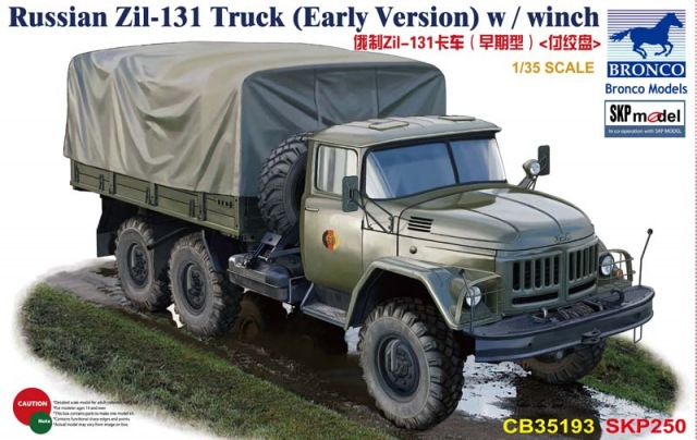 Bronco CB35193 1/35 Russian Zil-131 Truck(Early Version)w/Winch сумка oimei 2998 2015