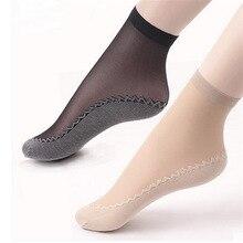 Anti Skid Velvet Socks Womens Spring and Summer short stockings Bottom Cotton Plus - Sweat Absorbing
