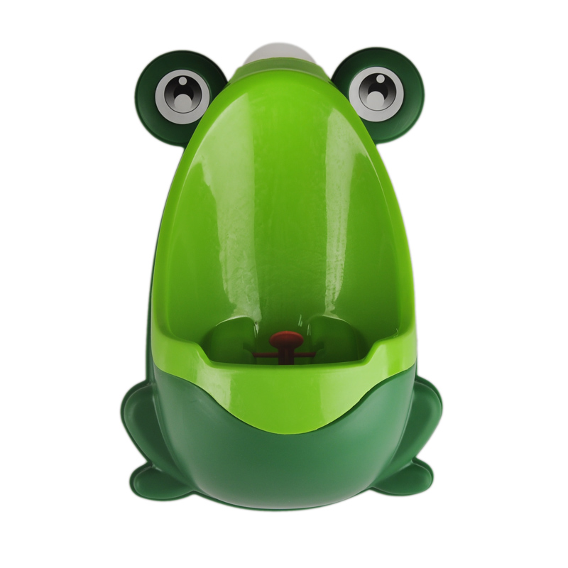 Cute Hook Frog Baby Potty Training WC Child Boy Toilet Seat Portable Plastic Kid Infant Potties Wall Mounted Urinal for Children image