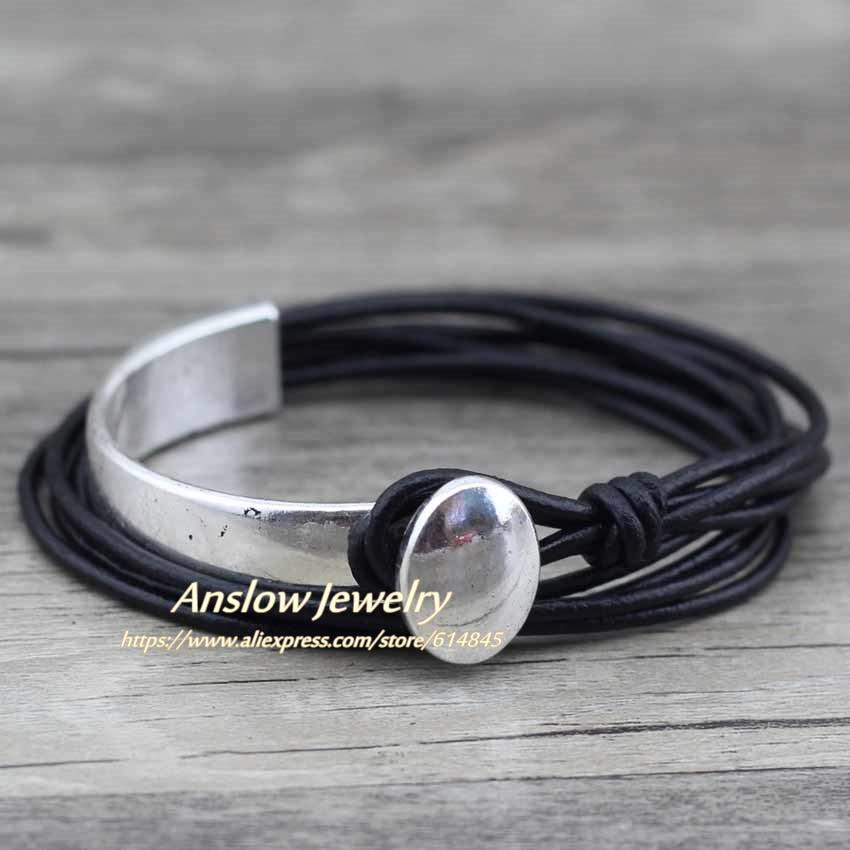 Anslow 2018 Klassik Unisex Charm Vintage Style Yeni Unikal Gümüşü - Moda zərgərlik - Fotoqrafiya 3