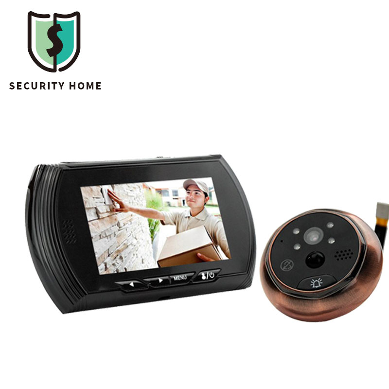 Fimei Smart Digital Door Viewer Peephole Camera With PIR Motion Detection Night Vision DND Function 4.3 inch HD Color Screen цена