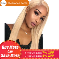 613 Lace Front Human Hair Wigs Honey Blonde Bob 180% Straight 360 Lace Frontal Wig Pre Plucked With Baby Hair Full Dolago Remy