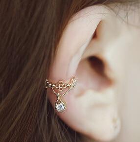 Hot Crown Drop Kristalna Clip naušnice ušne kosti Klip Non Pierced Uši Ženski modni dodaci nakit Veleprodajna cijena Pokloni