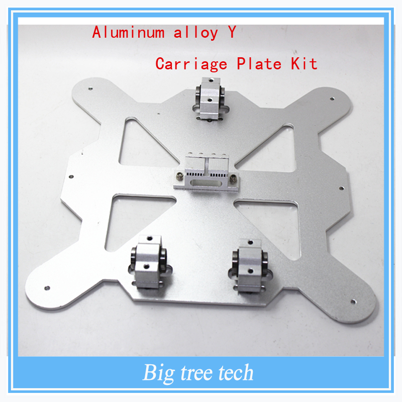 3 D printer parts Reprap Mendel Prusa i3 all metal aluminum alloy Y Carriage Plate Kit A SCV8UU with timing belt holder