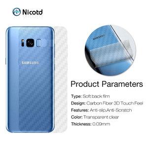 Image 2 - Zurück Aufkleber 3Pcs Für Samsung Galaxy A8 A6 J6 2018 Plus Screen Protector Für Samsung S9 Plus S8 Carbon faser Auf Telefon Zurück Film