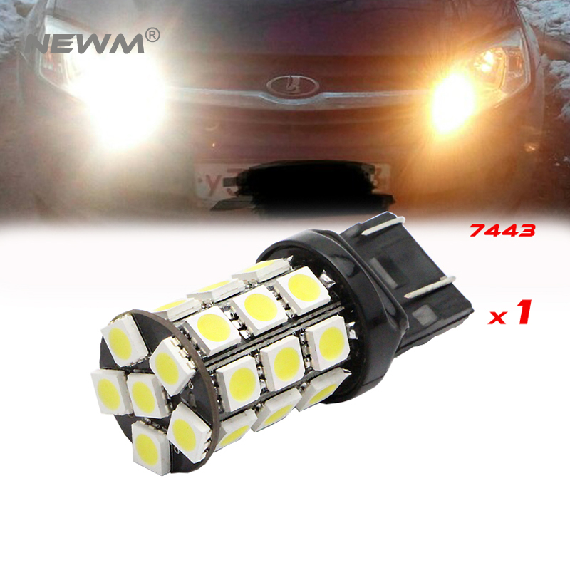 T20 7443 W21/5W For Lada Kalina Granta Accessories Front Turn Signal DRL Light Lamp Bright White 6000K 1pc фары противотуманные avs lada granta kalina галоген