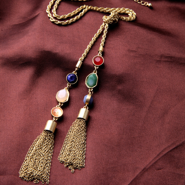 Native American Hip Hop Tassel Necklace High Quality Best Seller Alloy One Direction Jewelry