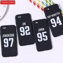 TOMOCOMO BTS Kore Bangtan Boys Sonsuza Kadar Genç JUNG KOOK V Bahar Günü telefon kılıfı Için iphone 5 6 7 7 Artı 8 8 Artı X XS M...