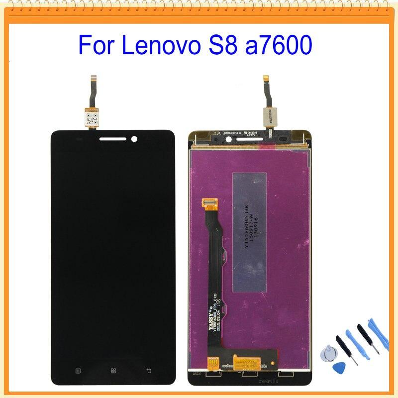 imágenes para 100% nuevo para lenovo s8 a7600 pantalla lcd con pantalla táctil digitalizador asamblea + herramientas de envío gratis