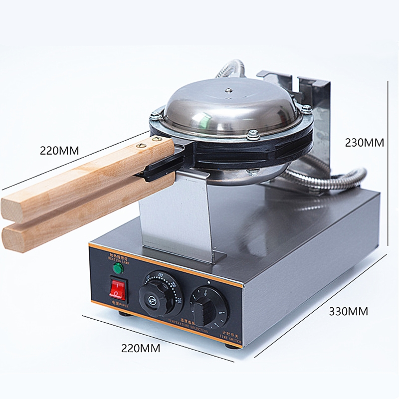 Wholesale And Retail Commercial Nonstick 220V Electric Digital Eggettes Puff Bubble Waffle Maker HongKong Egg Waffle Machine digital and commercial double head waffle maker rectangle waffle machine