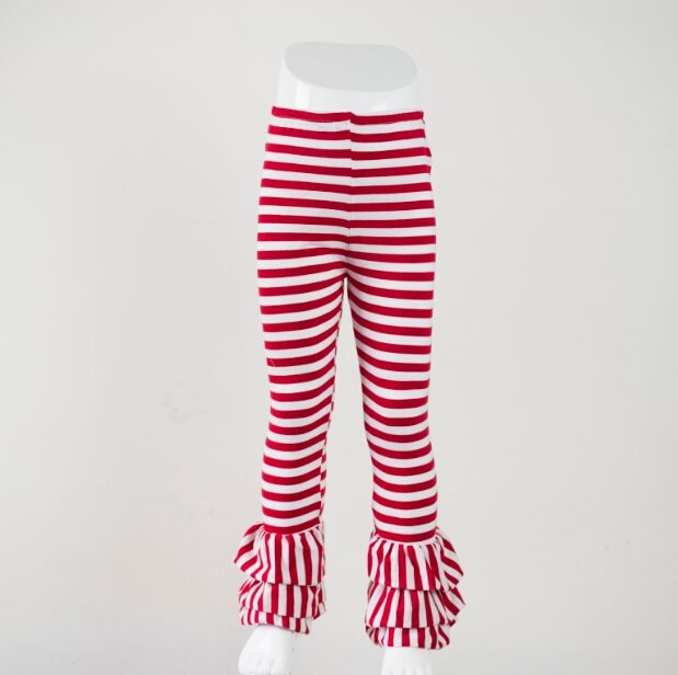 8407127a11f24 children girls triple fluffy ruffles triple sew sassy icing legging baby  icing ruffle pants kids girl wide stripe clothing