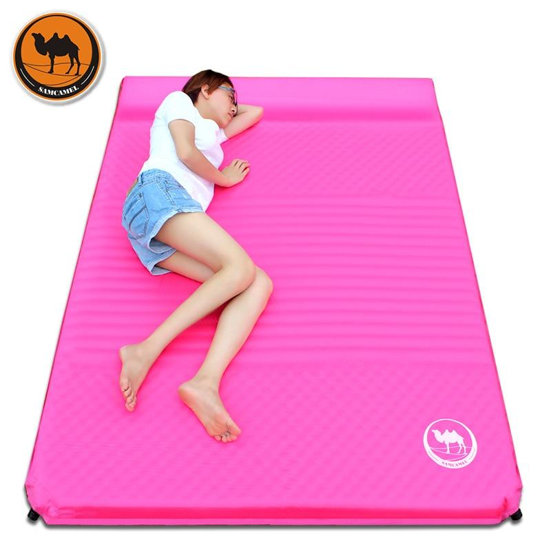 Samcamel Outdoor Camping Mat Double Air Mattress Inflatable Mattress Airbed Inflatable Bed Air Bed Tent Folding