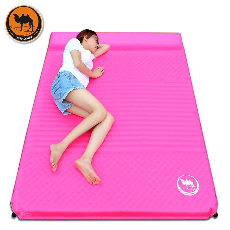 Samcamel Outdoor Camping Mat Double Air Mattress Inflatable Mattress Airbed Inflatable Bed Air Bed Tent Folding Bed Folding Bed durable thicken pvc car travel inflatable bed automotive air mattress camping mat with air pump