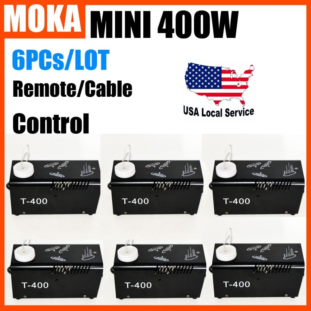 6PCs/LOT Mini 400W Smoke Machine Wireless Remote Fogging Machine Maquina de Espuma Fog Generator DJ Stage Fogger