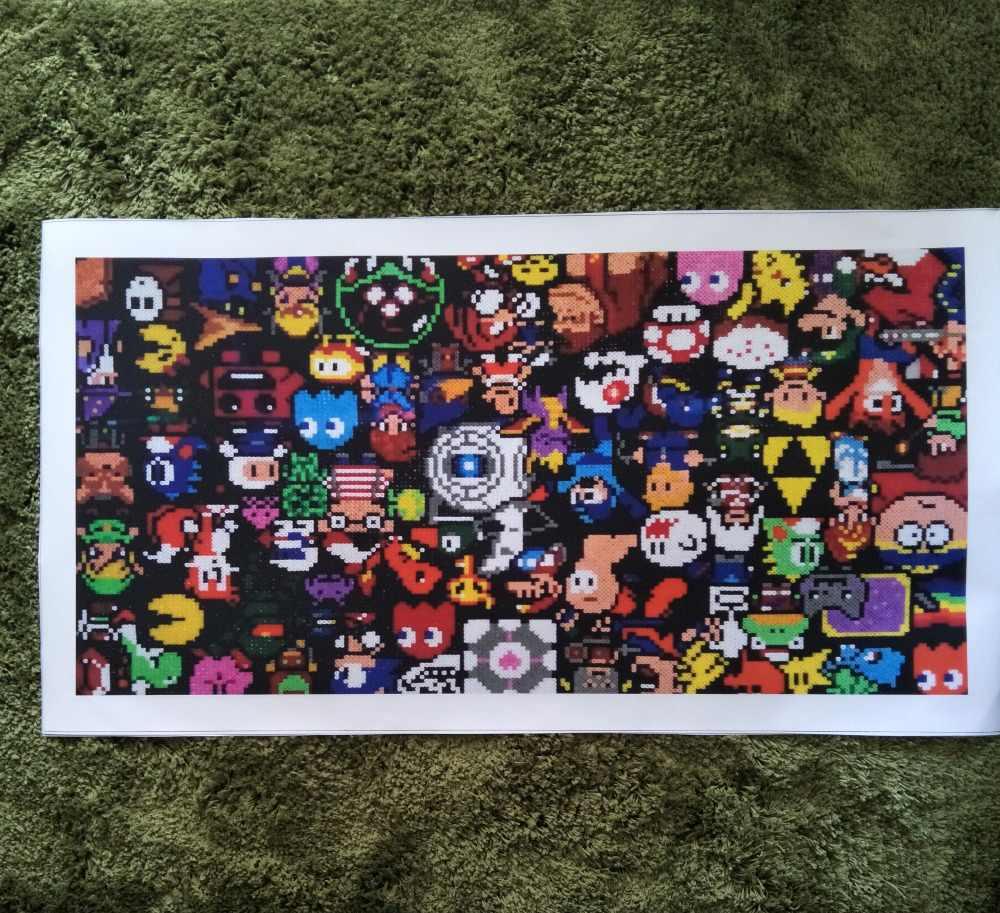 Zz618 Modern Canvas Art Perler Bead Pixel Art Abstract