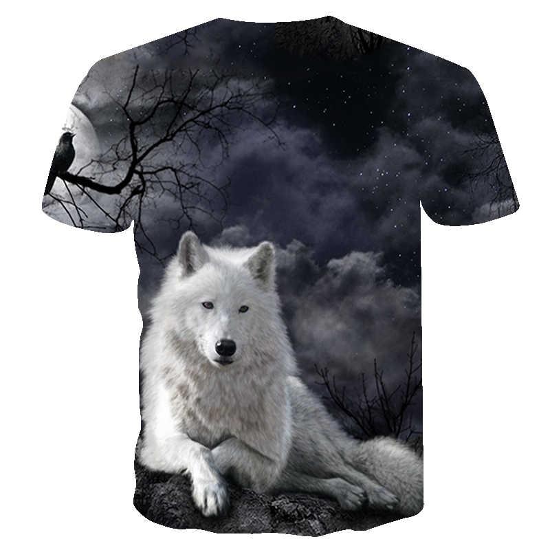 2019 пламя волк печати 3D серии футболки мужские Новые Топы футболки летние с коротким рукавом животных кулон тройники высокого качества