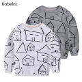 Children Sweatshirts 2017 Autumn Printed House Boys Sweatshirts Girls Hoodies Cartoon Long Sleeve T-Shirts For Kids Sudaderas