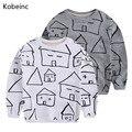 Crianças Moletons 2017 Outono Impressa Casa Meninos Camisolas Hoodies Meninas Dos Desenhos Animados Camisetas de Manga Longa Para Crianças Sudaderas