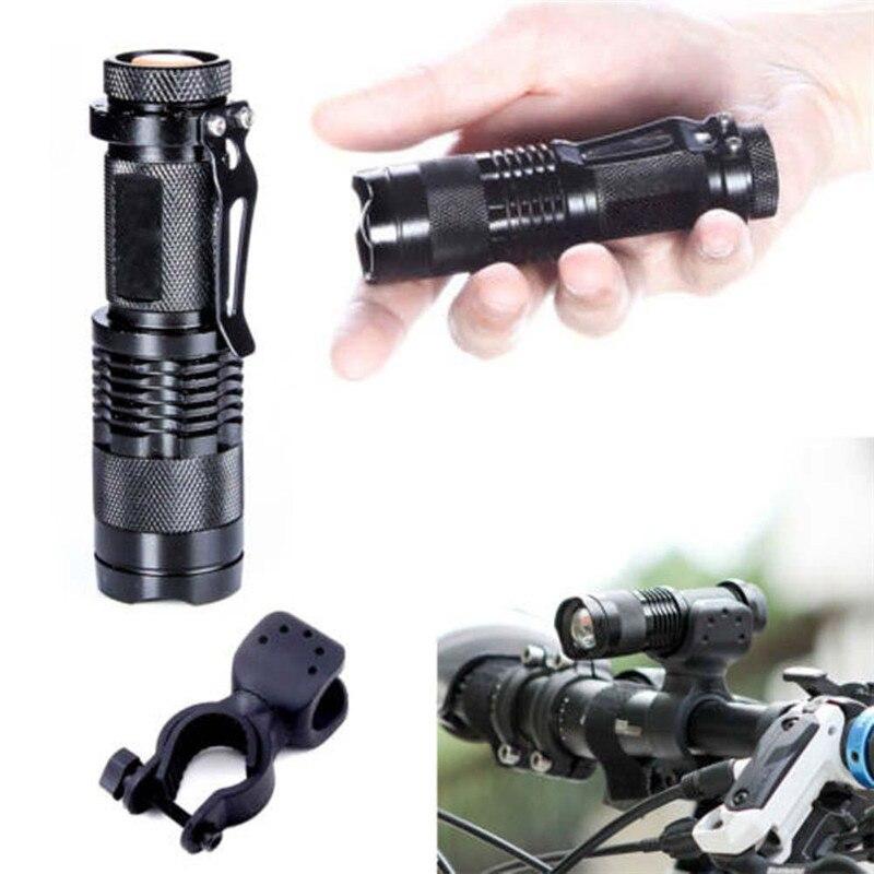 Portable Q5 LED Flashlight SK68 Mini CREE XPE torch Zoomable led font b light b font