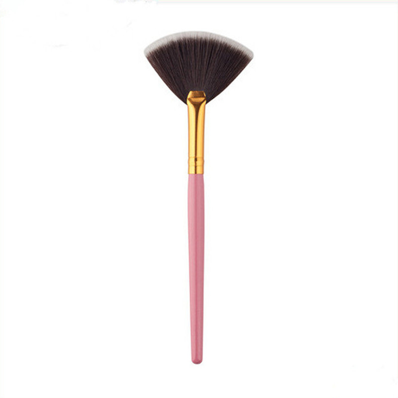 1Pc Slim Fan Shape Powder Concealer Blending Finishing Highlighter Highlighting Makeup Brush Nail Art Brush for Makeup