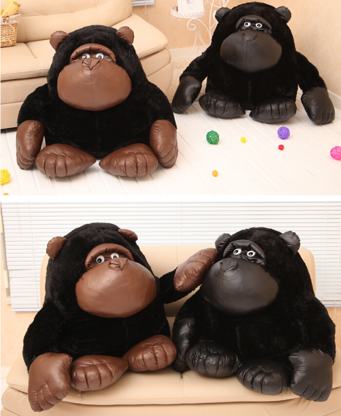 Plush toy stuffed doll cute soft black chimpanzee Gorilla orangutan 1pc kid bedtime story Christmas birthday gift free shipping