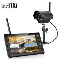 SmartYIBA 7 4CH Video Surveillance CCTV System Security Cameras Wireless CCTV Video Surveillance DVR Kit (1 Camera Kit)