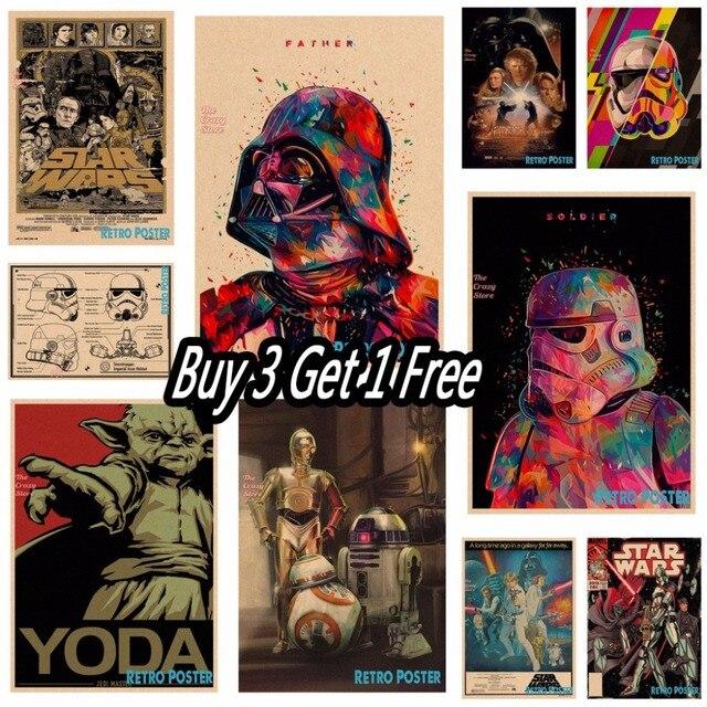 Старинные плакат Star Wars фильм Ретро плакат крафт-бумаги стикер кафе гостиная