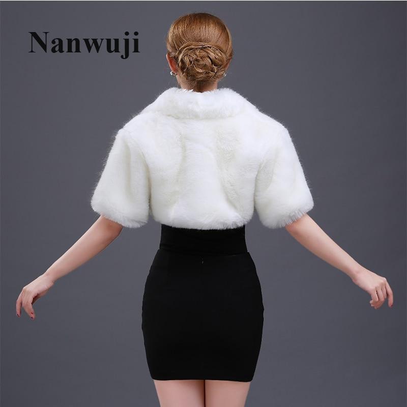 Custom Made White Ivory Faux Fur Bridal Wrap/ Wedding Jacket/Shawl/Cape/Stole/Bolero/