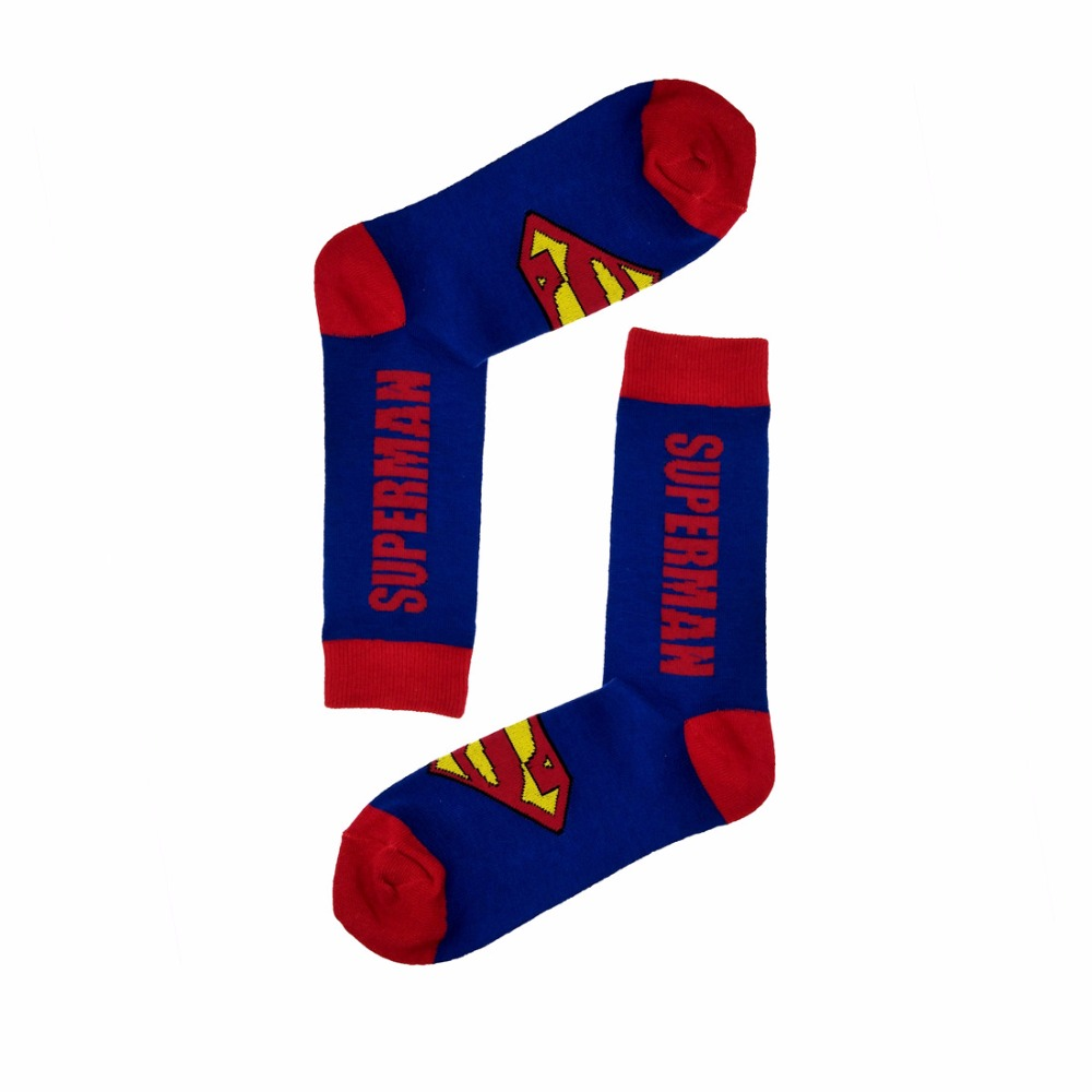 HOT Sales Super Heros Long Socks Deadpool Captain Socks Male Hot Sale Brand New Long Soks Cheap Sale Warm Winter Socks