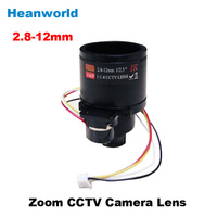 Free Shipping Cctv Camera Lens 2 8 12mm Auto Iris Lens 1 2 7 12 0