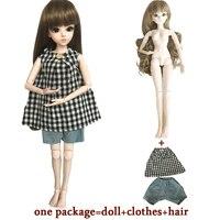 60 см БЖД/SD 18 сочлененной макияж с одеждой волосы куклы красивая мечта девочек игрушки KD игрушки для детский подарок