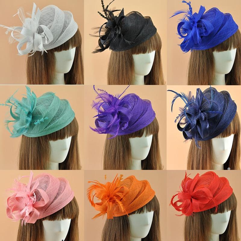 16 Colors Elegant Ladies Royal Fascinatorssinamay