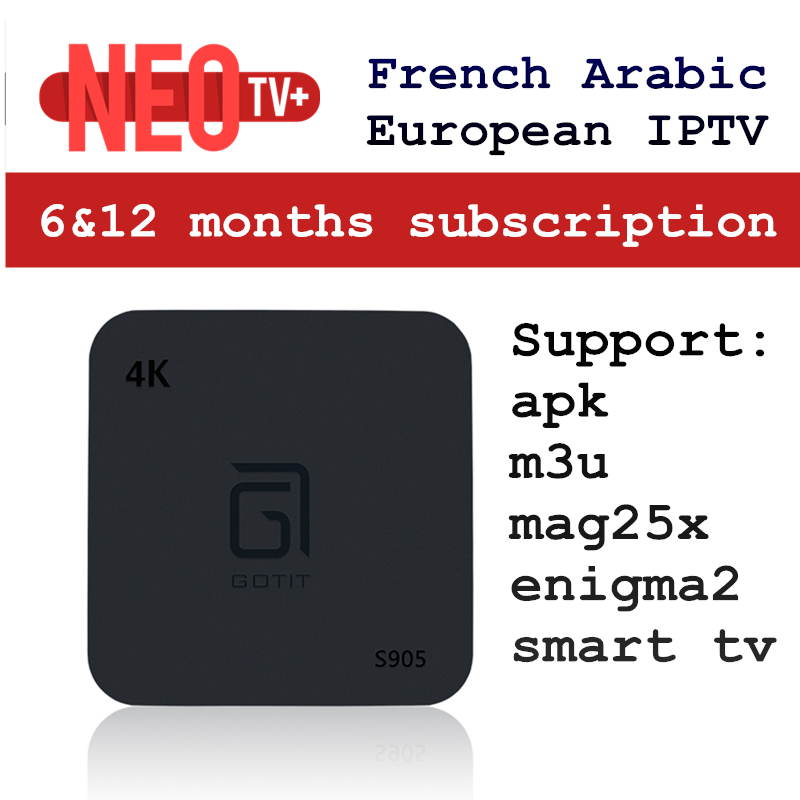 US $13 92 42% OFF|Android Smart TV Box with 1200+ Channel Europe Arabic  French Belgium IPTV subscription Abonnement LiveTV for France Belgian  Arab-in