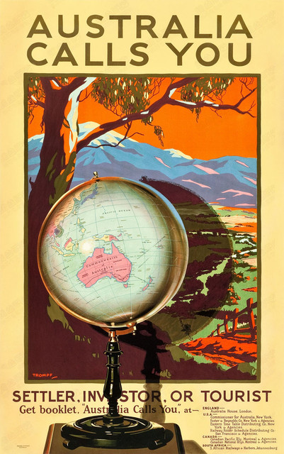 Australia Calls You Settler Tourist Landscape Travel Vintage Retro ...