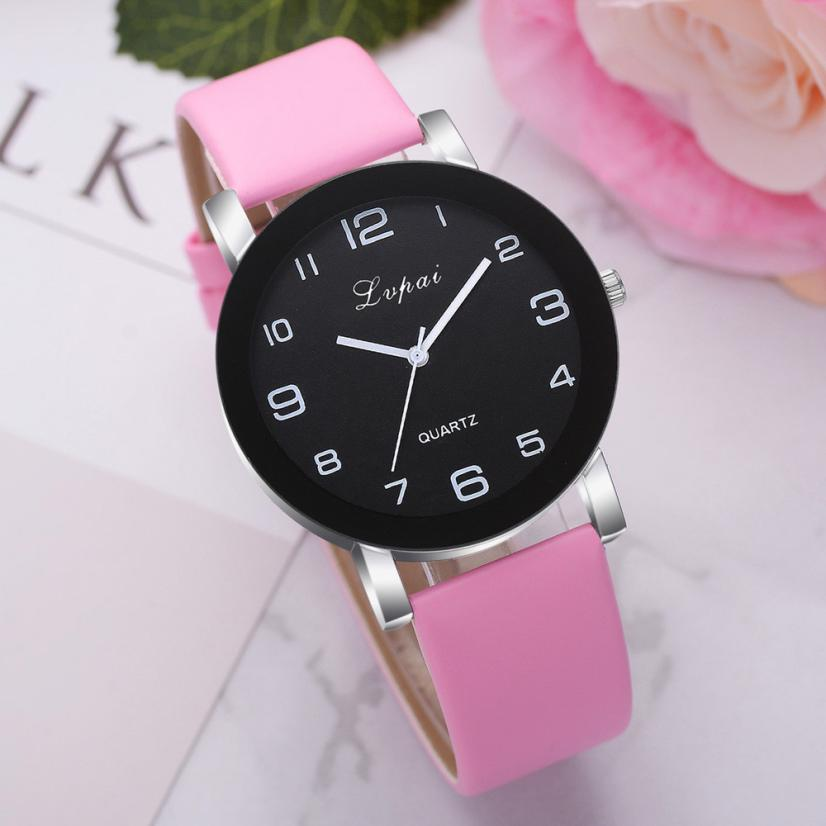 Fashion Wristwatch Women's Casual Christmas Gift Quartz Leather Band Watch Classics Brand Luxury Analog Wrist Watch 2018 #C