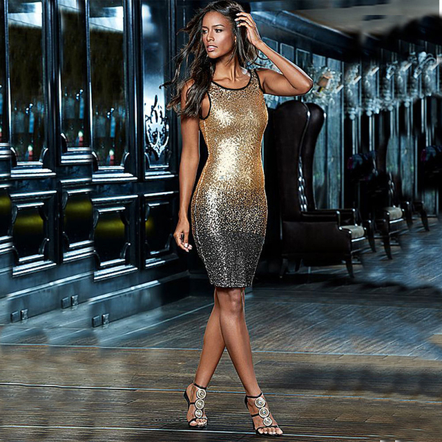 1c86a7ca0a MUXU rose gold sequin dress vestido sexy summer bandage plus size women  clothing vestidos mujer fashionable dresses bodycon