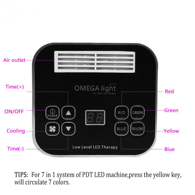 7Color LED photon light therapy Beauty machine PDT lamp treatment skin Regeneration Tighten Facial Acne Remover Anti-wrinkle Spa
