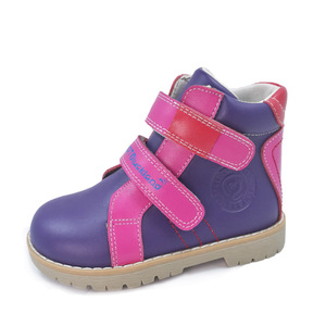 Image 5 - Ortoluckland Kids Leather Casual Shoes Original Orthopedic Shoes Girls Autumn Spring Brown Navy Blue Purple Ankle Boots
