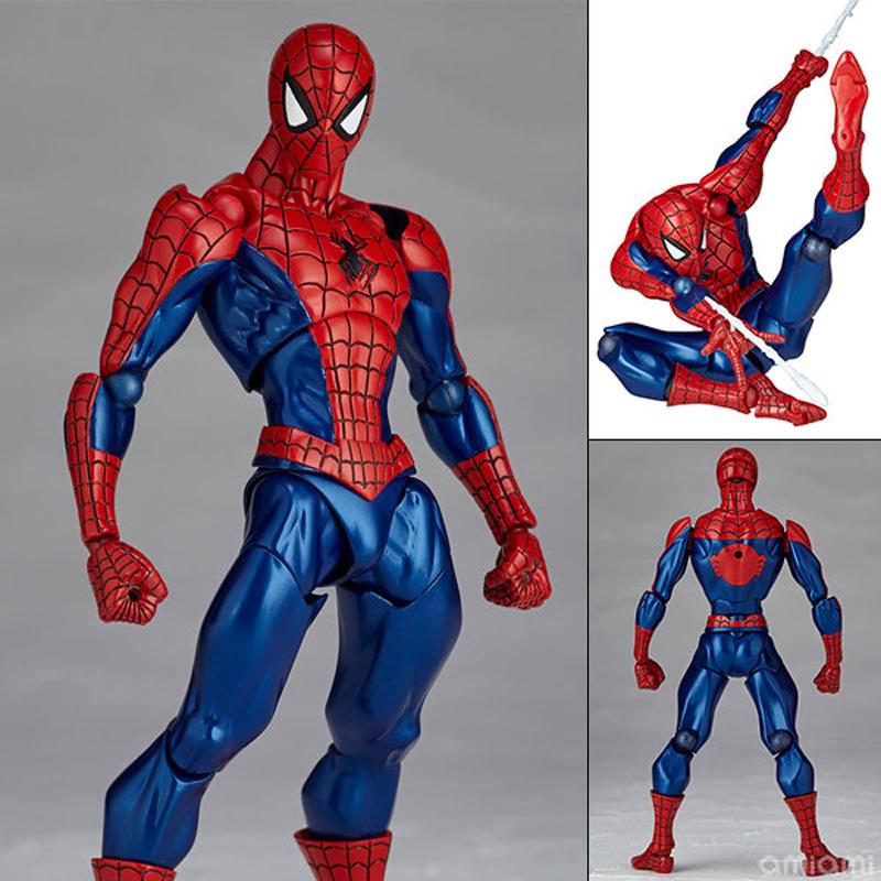 FIGMA Series NO.003 Revoltech Venom No.002 Spiderman No.001 Deadpool With Bracket PVC Action Figure Collection Model Toy 15cm (19)
