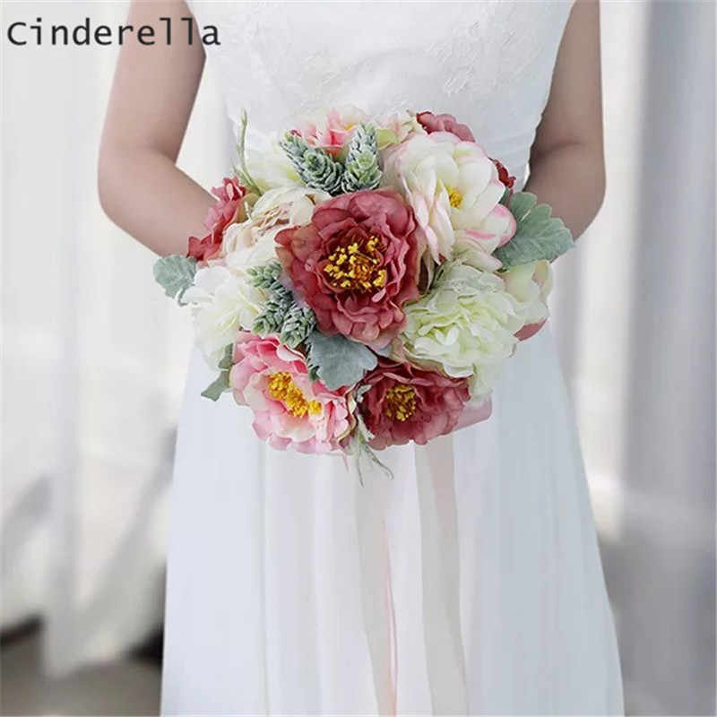 1 Bouquet Artificial Fake Peony Flower Bridal Hydrangea Wedding Party Decor Qc Home Decor Home Garden