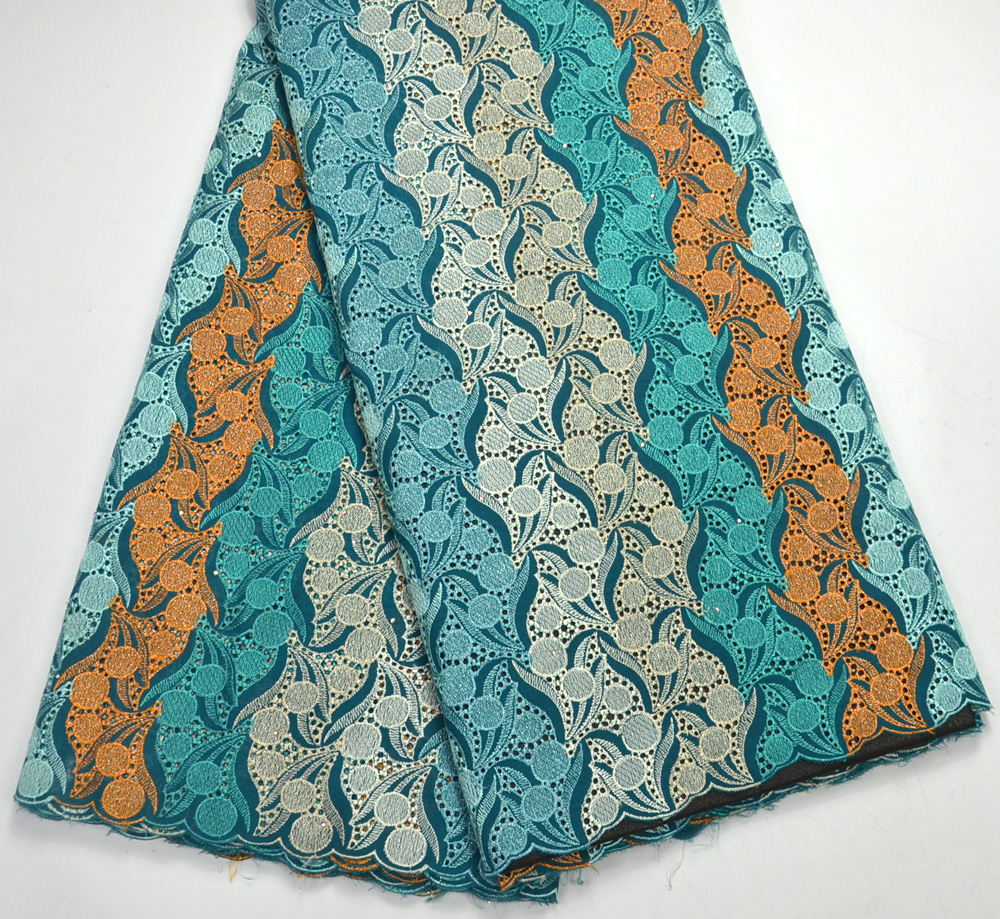 Latest Quality Colorful African Swiss Voile lace For Nigeria wedding  lace fabrics Swiss lace Colorful Bridals FabricsLatest Quality Colorful African Swiss Voile lace For Nigeria wedding  lace fabrics Swiss lace Colorful Bridals Fabrics