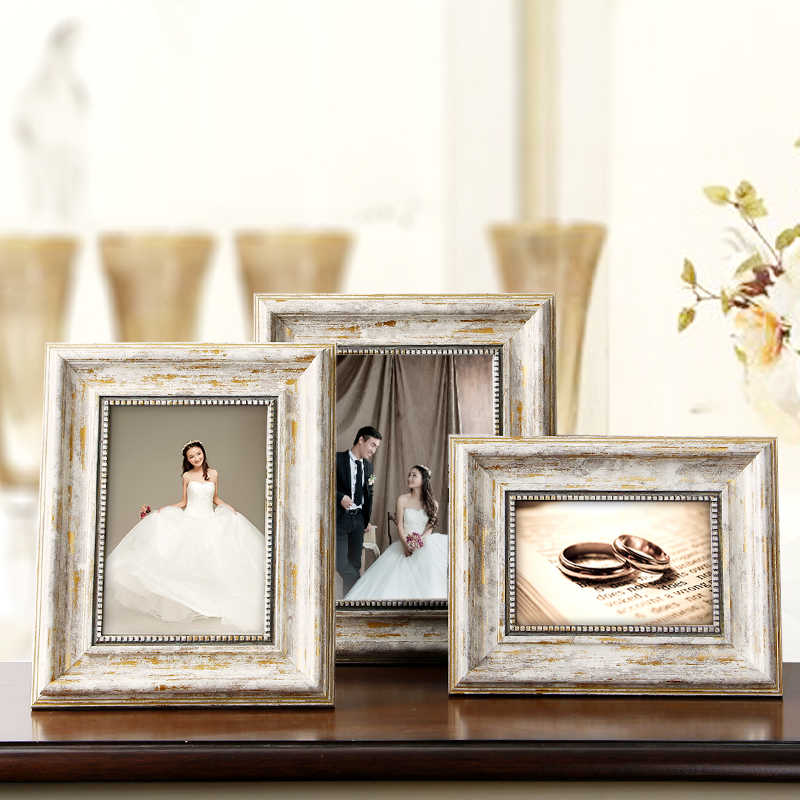 2019 European Style Vintage Method Picture Frame 1pcs Quality Photo Frames Best Wedding Gift End Table Home Decor Photo Frames