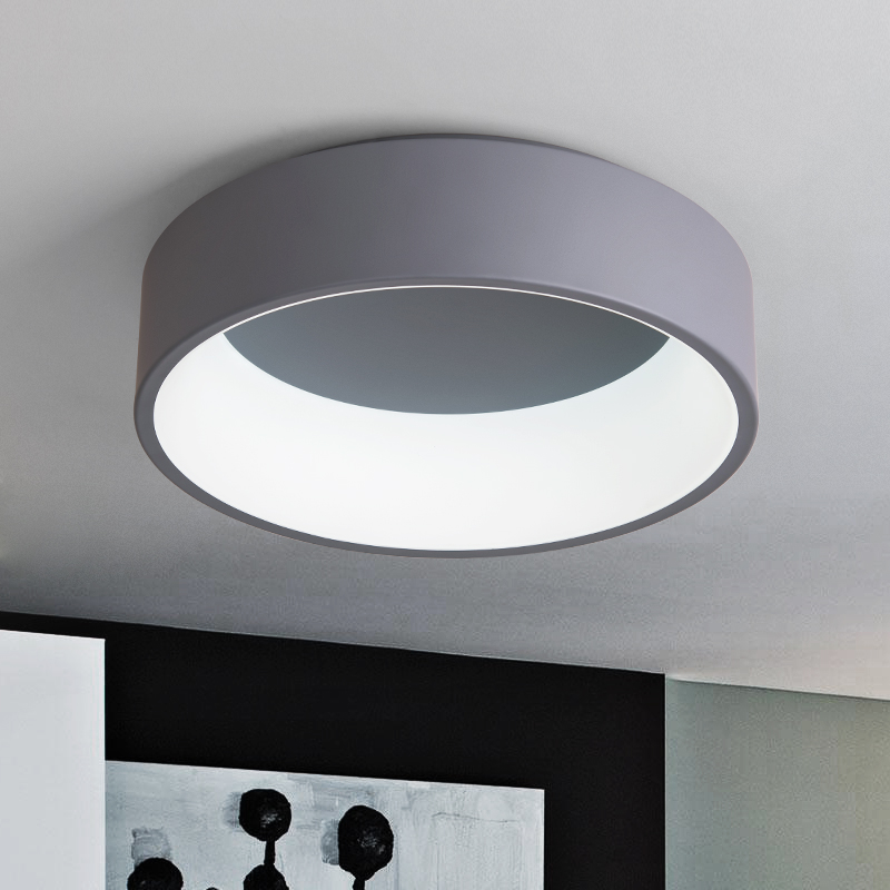Modern Round Circle LED Ceiling Light Ceiling grey/white Mounted Lamp for Foyer Bedroom Livingroom Kitchen Lighting Fixture sewor c1257
