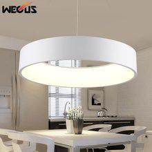 wecus dmm redondo crculo lmpara colgante moderna v w led cocina comedor colgante luz suspender la iluminacin del hogar