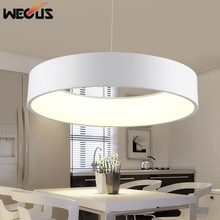 (Wecus) Modern D450mm round circle hanging lamp 28W led dining room kitchen pendant lamp household suspend lighting chandelier