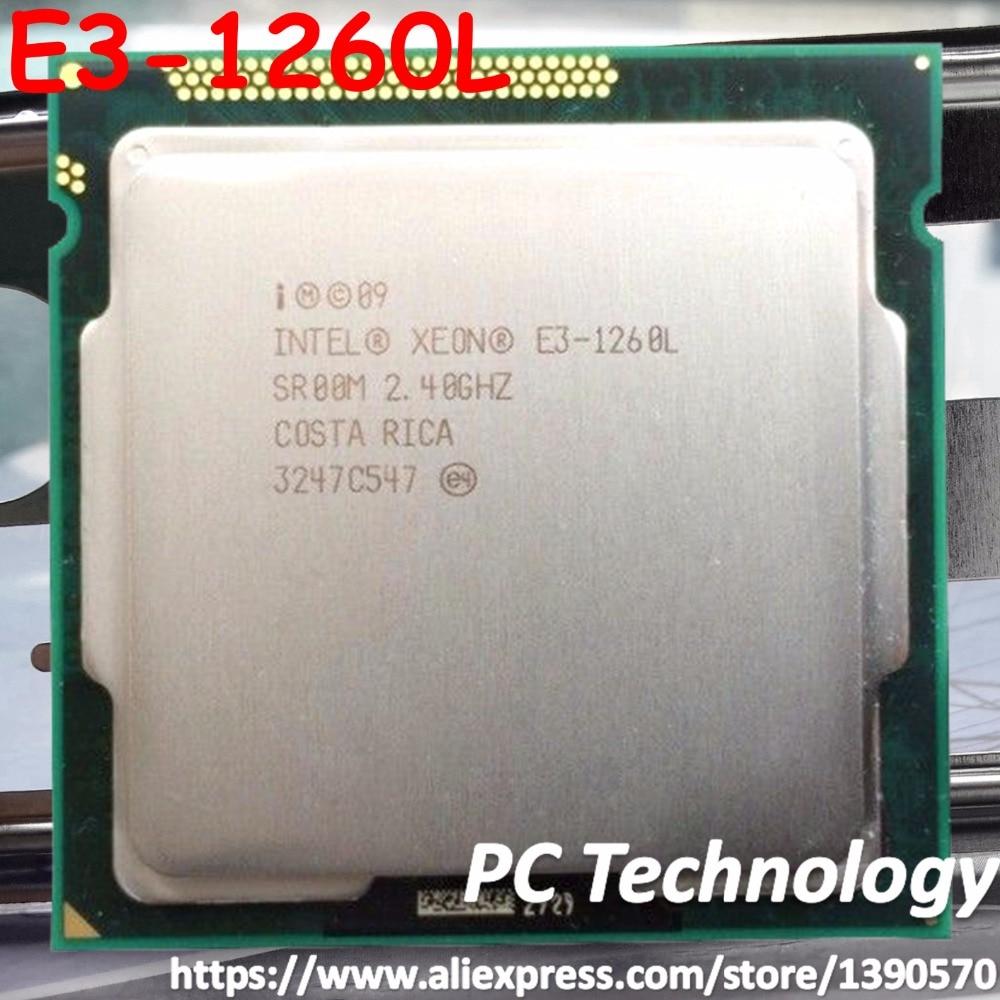 Original Intel XEON processor E3 1260L Quad core 2 4GHz 8MB E3 1260L LGA1155 CPU free