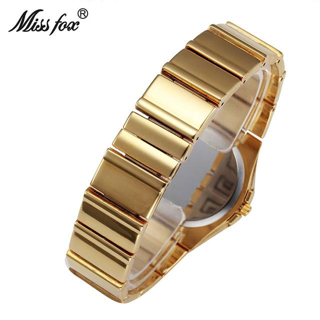 Miss Fox Weave Gold Watch Women Famous Brand Quartz Golden Clock Ladies Designer Watches Luxury Diamond Watch C Relogio Feminino